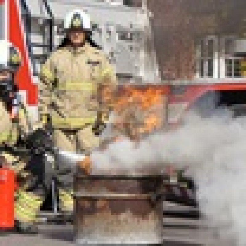 En brandslukning