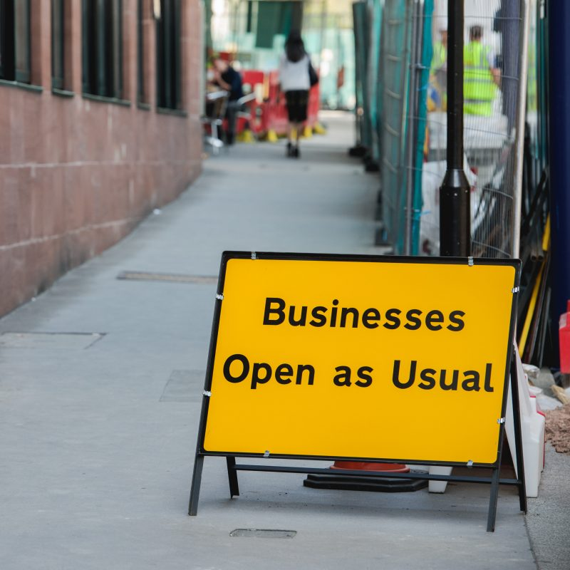 Businesses open as usual. Foto Colourbox.dk