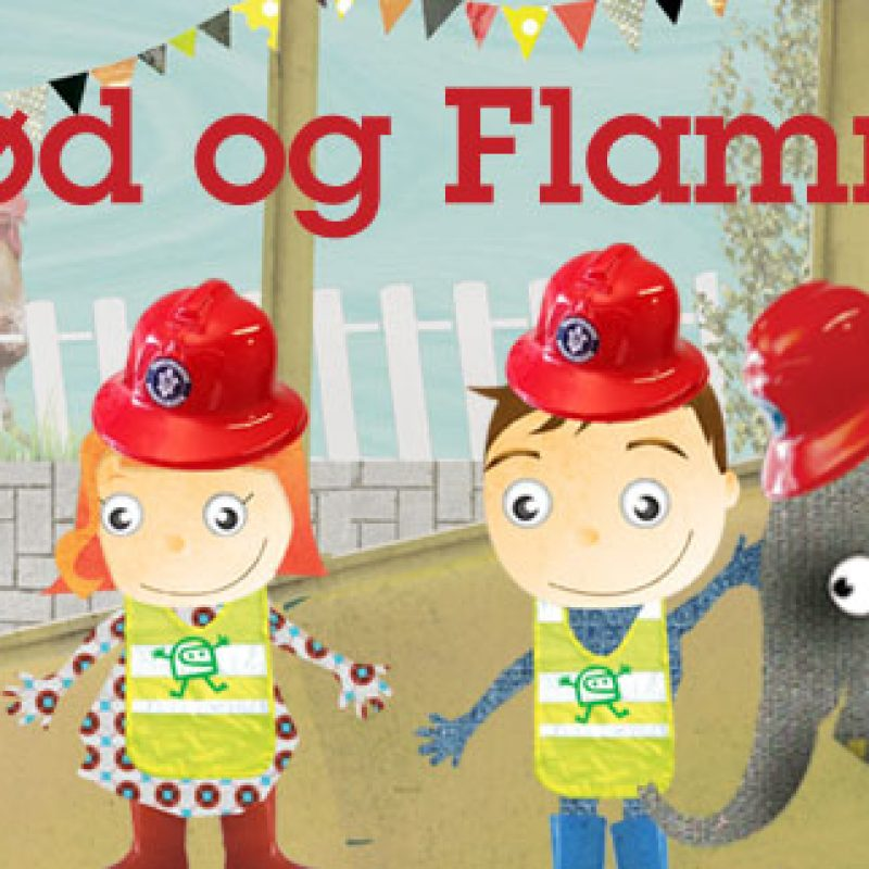Illustration af Glød og Flamme banner