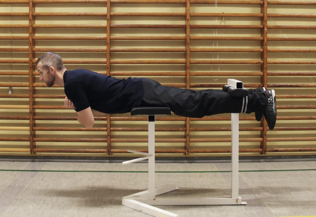 Fysisk test - rygøvelse