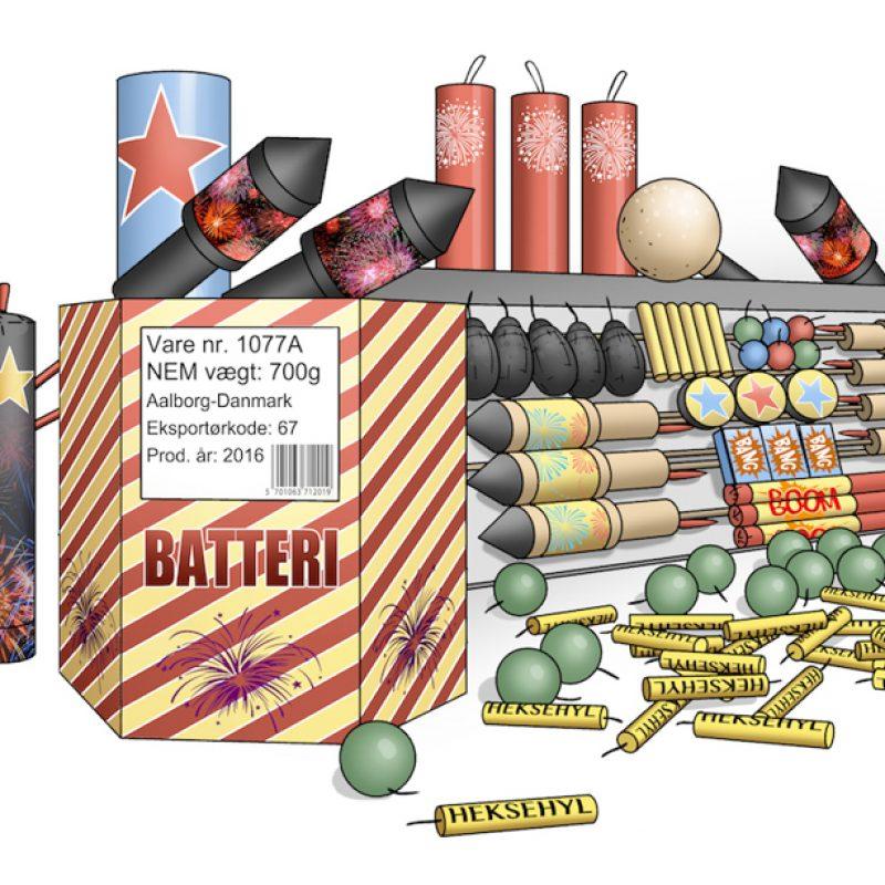 Illustration af fyrværkeri