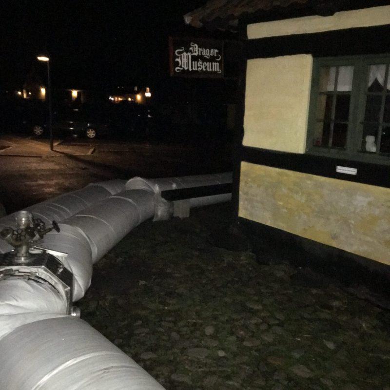 Beredskabsudstyr er lagt ud efter stormflod i Dragør