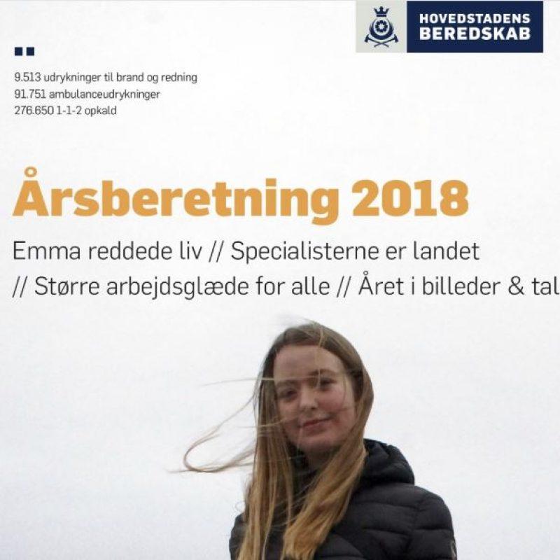 """Forsiden af """"Årsberetning 2018"""""""