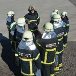 Brandkadetter bliver instrueret