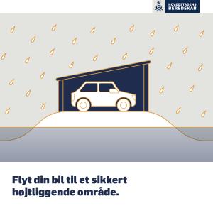 Flyt din bil til et sikkert område.